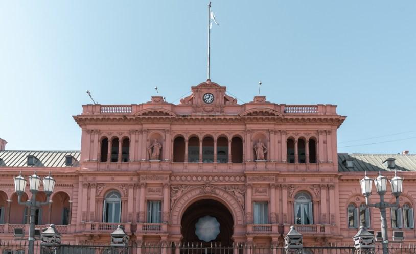 Fachada da Casa Rosada, sede do governo em Buenos Aires