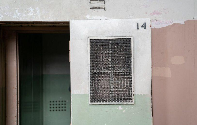 Detalhe de cela em Alcatraz, prisao de segurança maxima nos Estados Unidos