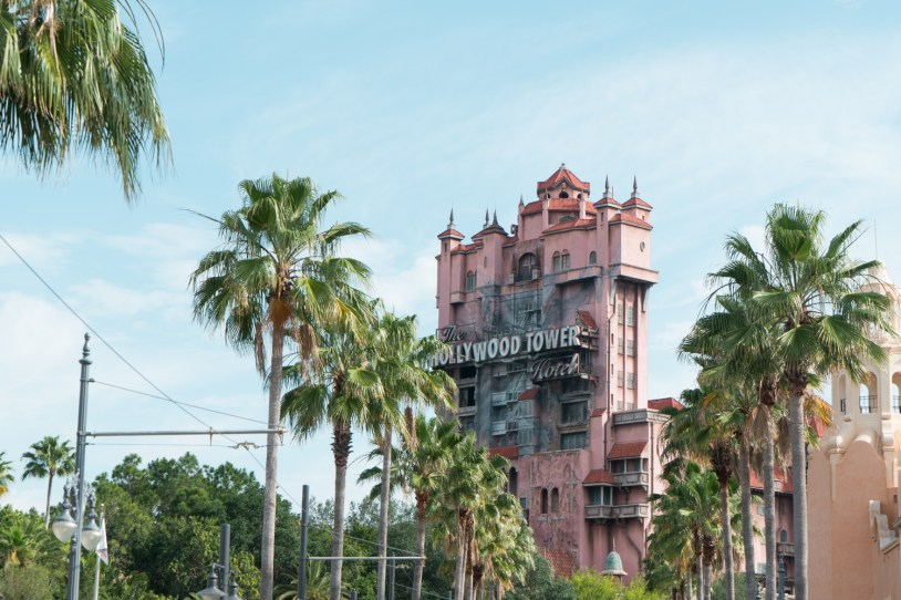 Torre do terros no parque Hollywood Studios, na Disney