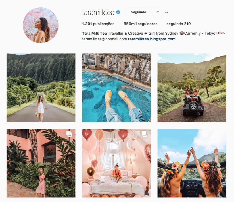 Tara Milk Tea e outras mulheres inspiradoras para seguir no instagram