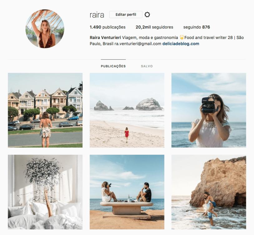 Raira Venturieri e outras mulheres para seguir no Instagram