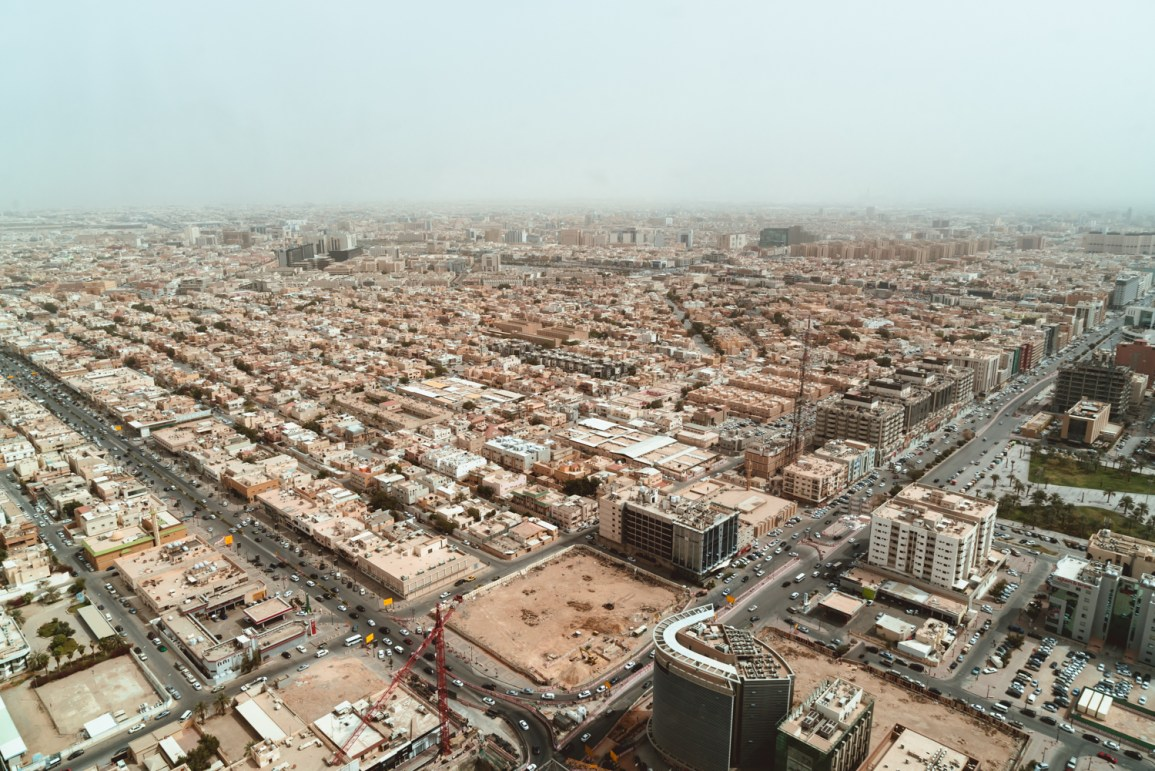 Vista panoramica de Riade, capital da Arabia Saudita
