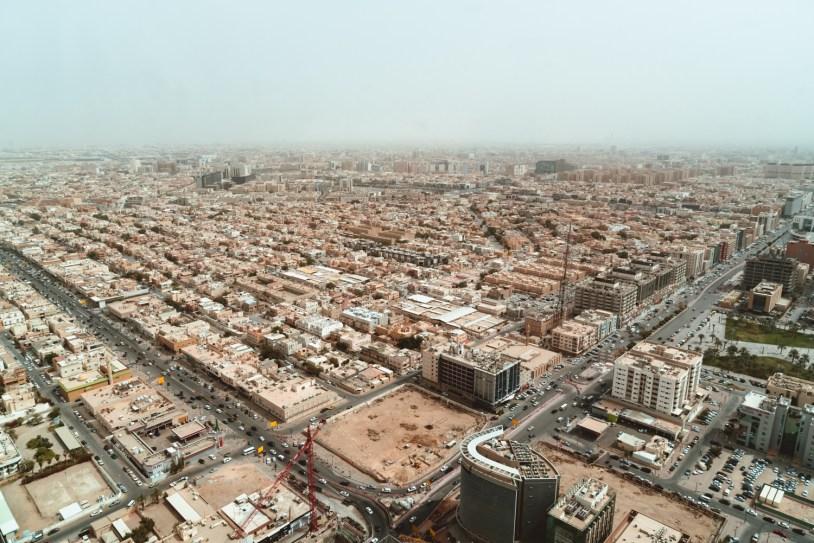 Vista panoramica de Riade, capital da Arabia Saudita