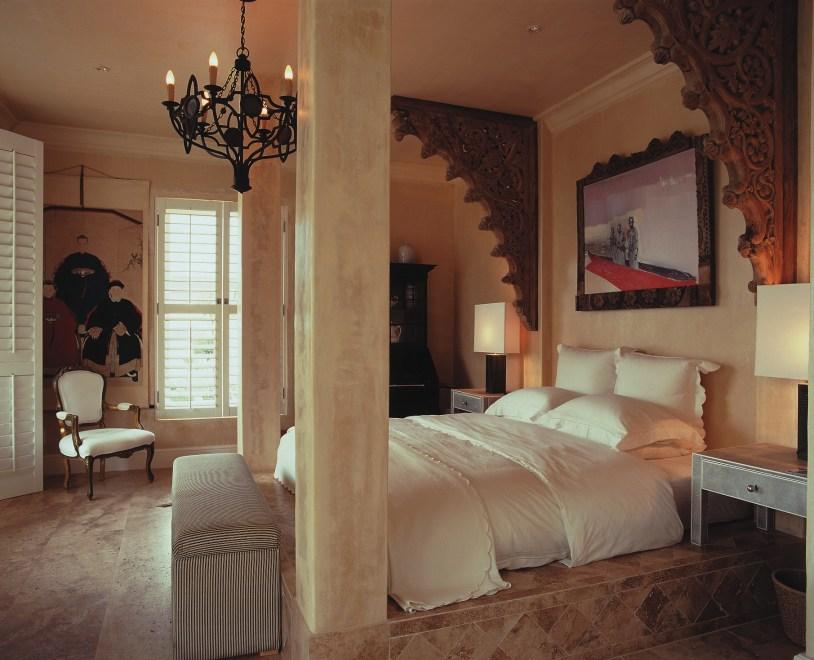 Um dos quartos da romântica Birkenhead House
