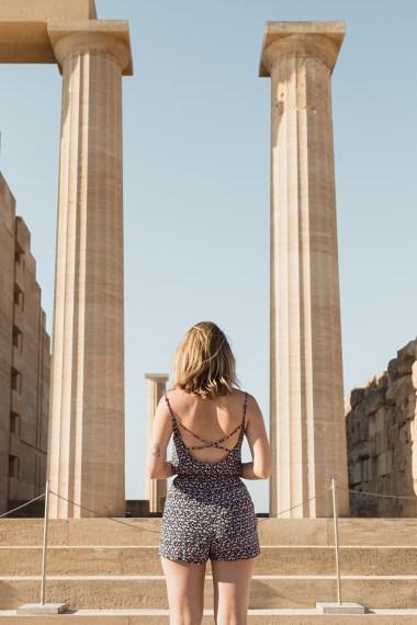 Há muitos locais historicos interessantes na ilha de Rhodes, parte de um cruzeiro na Grecia