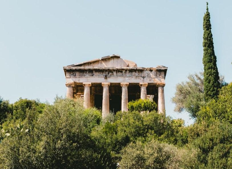 Tempo de Hefesto na Agora Antiga de Atenas, Grecia. Por Delicia de Blog
