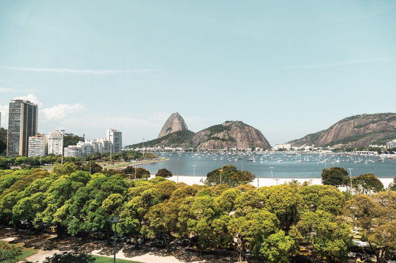 Vista do Pao de Açucar do terraço do Yoo2 Rio de Janeiro
