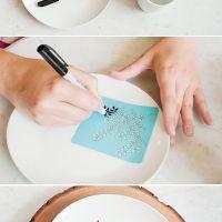 Personalize os seus pratos e copos