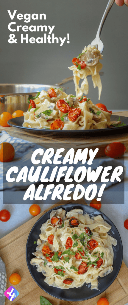 After trying out many different recipes for a creamy Alfredo I have settled on this vegan cauliflower Alfredo as my favorite! It's cheaper to make than a cashew Alfredo, is extremely healthy for you and tastes way better than any of the other recipes I tried out.