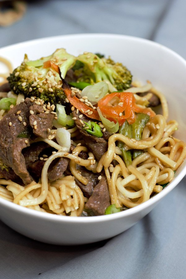 Perfectly cooked noodles and tender beef make for the perfect take-out night without the steep price tag.