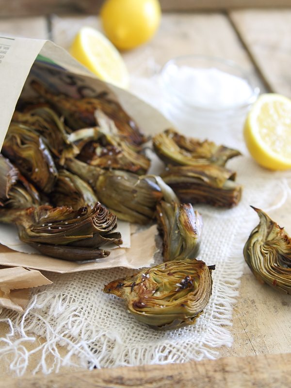 If you can't find room to make 20 large artichokes this easty, try these delicious bite sized pieces.