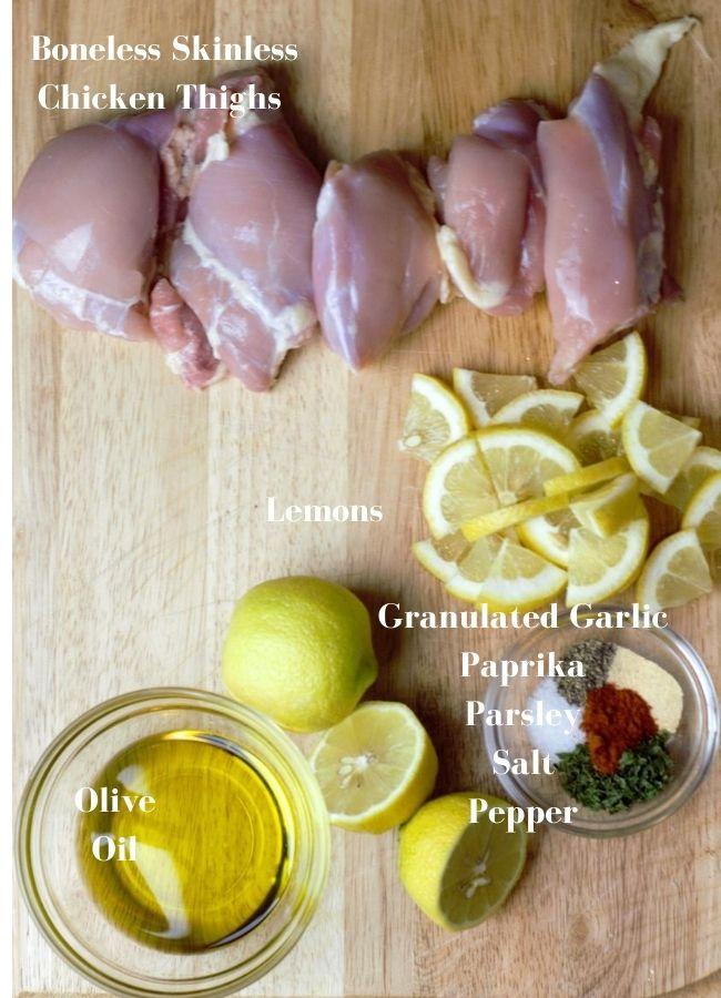 chicken kebab ingredients