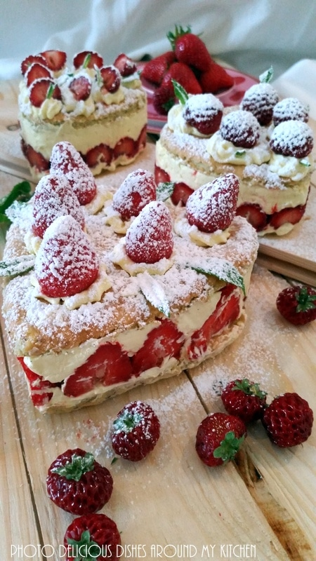 Zum Muttertag….Himbeer-Erdbeeren- Vanilletörtchen