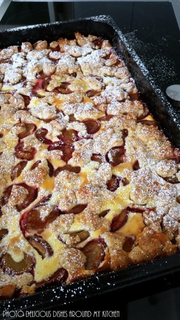 Frisch aus dem Ofen- Zwetschgenkuchen mit Nüssen