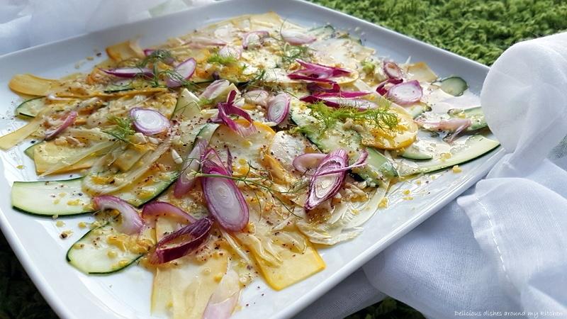 Zur Grillsaison…Zucchini & Fenchel mit Zitrone- Sumach- Marinade
