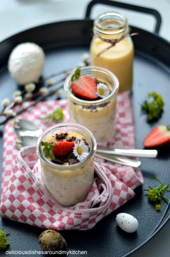Last Minute- Eierlikör- Mousse mit Schoko und Erdbeere zu Ostern oder auch danach – Delicious dishes around my kitchen