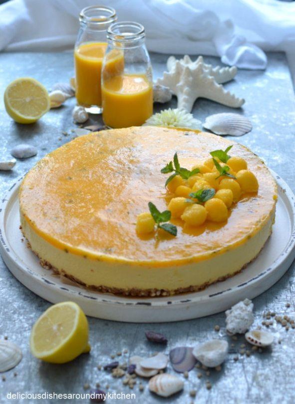 Sommerlicher – Mango- Maracuja- Smoothie- Cheesecake auf Puffreisboden – Delicious dishes around my kitchen