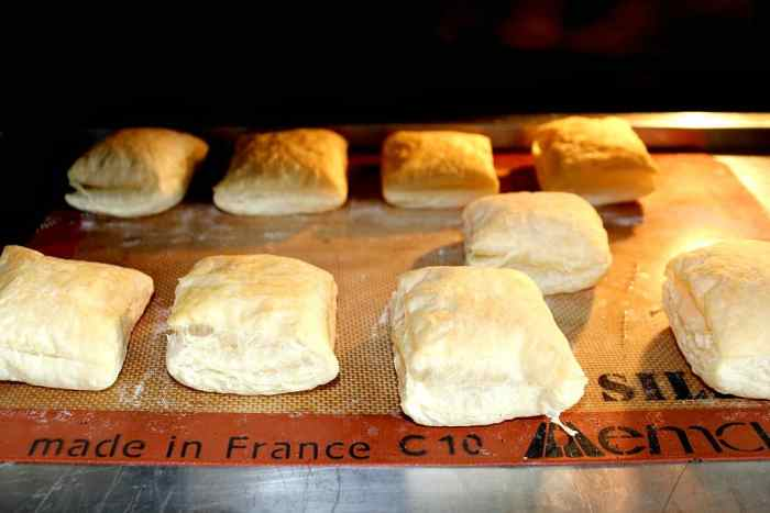 Puff Pastry Cooking in the Oven
