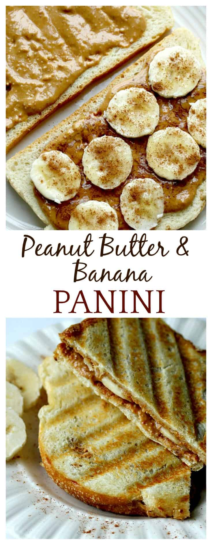 Grown Up Peanut Butter & Banana Panini - Delicious Little ...