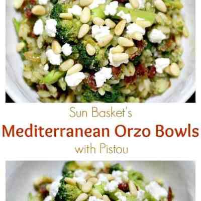 Sun Basket: Mediterranean Orzo Bowls with Pistou