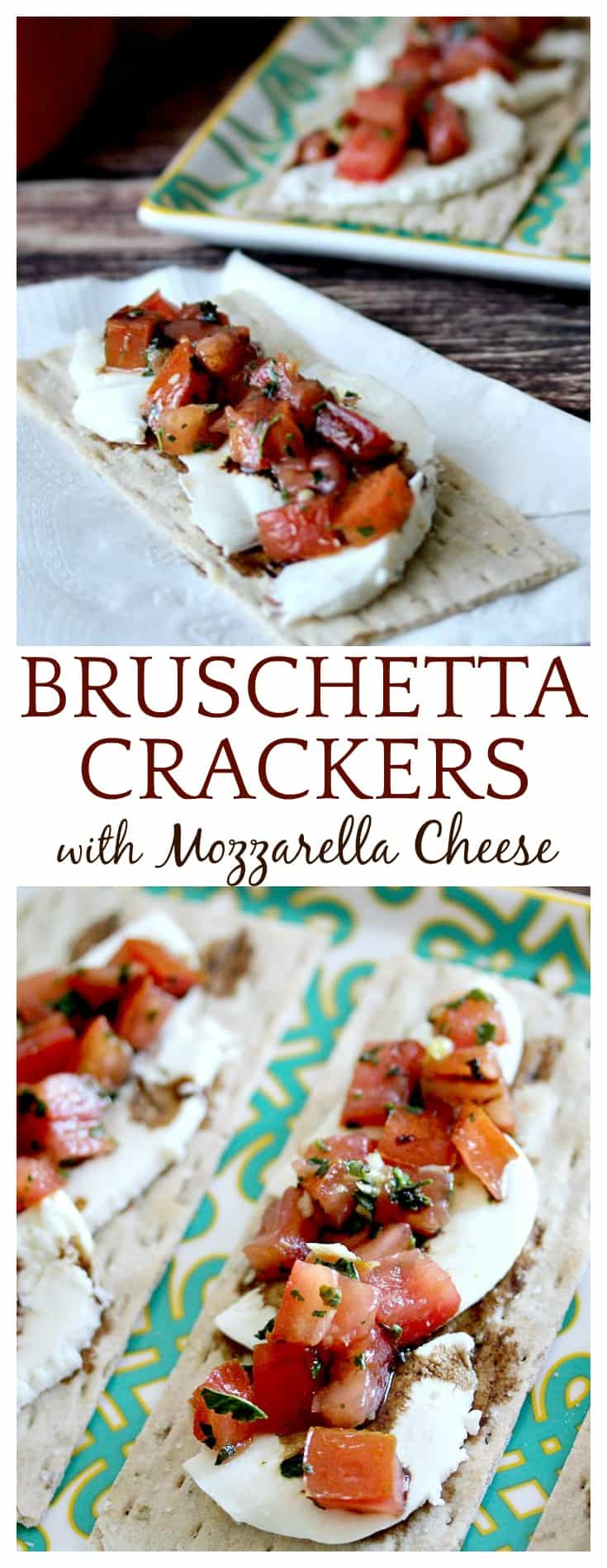 This is a perfect appetizer for the upcoming holiday season! Using Wasa Thins Rosemary and Sea Salt Crackers makes putting this Bruschetta recipe together even easier!