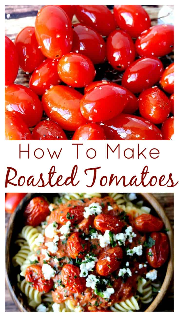 If only I knew how to make oven roasted tomatoes was so easy I would have done it a hundred times already!! Use this easy roasted tomatoes recipe to add these delicious little pops of flavor to all kinds of dishes from pasta to salads to sandwiches! Just yum! | www.OurLittleEverything.com