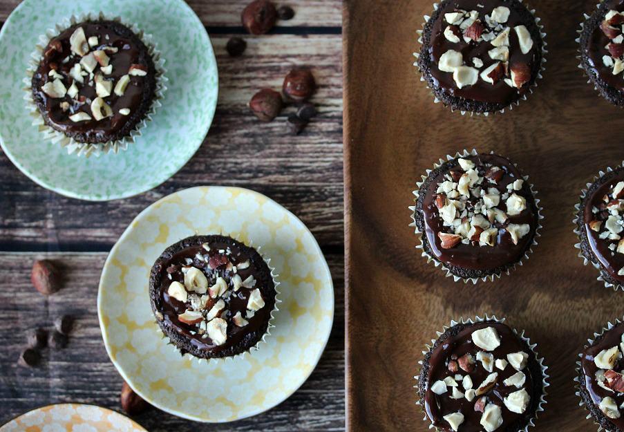 Gluten Free Chocolate Hazelnut Cupcakes