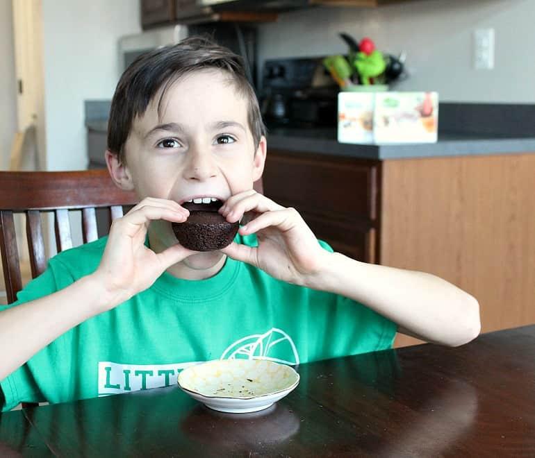 Jax LOVES Garden Lites Muffins!