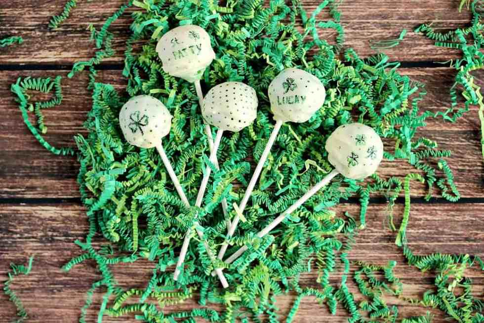 St. Patrick's Day inspired Green Cake Pops