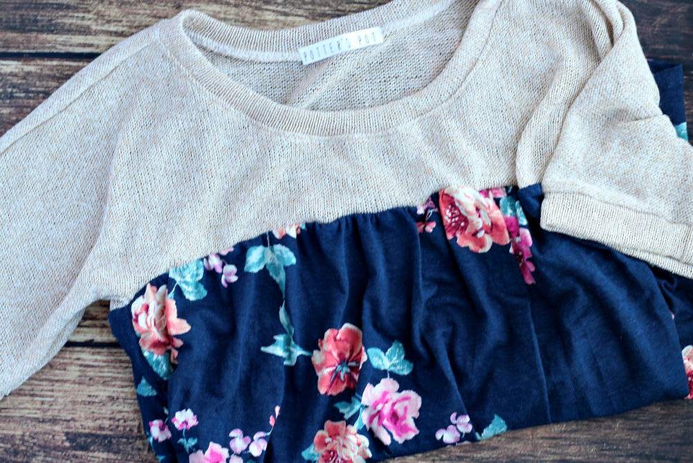 Golden Tote Floral Frenzy Top