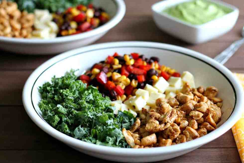 Ingredients Chopped and in Bowls