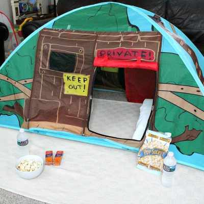 Family Movie Night Camp Out
