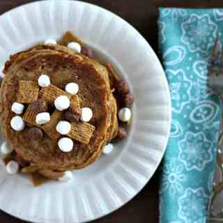 Honey Maid S'mores Cereal Pancakes
