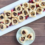 Plated Mini Cranberry Walnut Cups