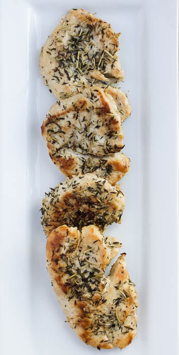 Plated Rosemary-Thyme Turkey Cutlets