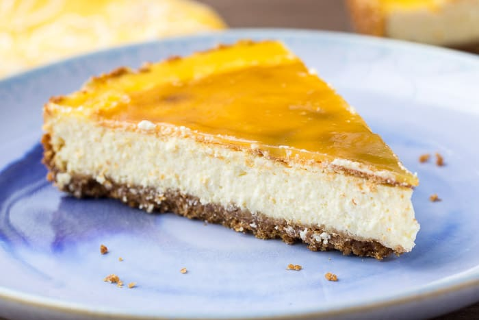 Vanilla Orange Cheesecake with Orange Glaze