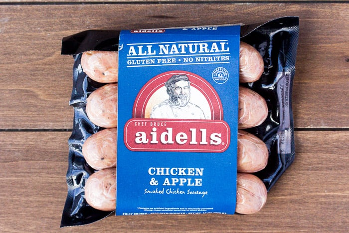 A Package of Aidells® Chicken & Apple Dinner Sausage