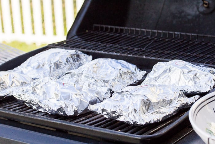 Foil Packets Cooking on the Grill