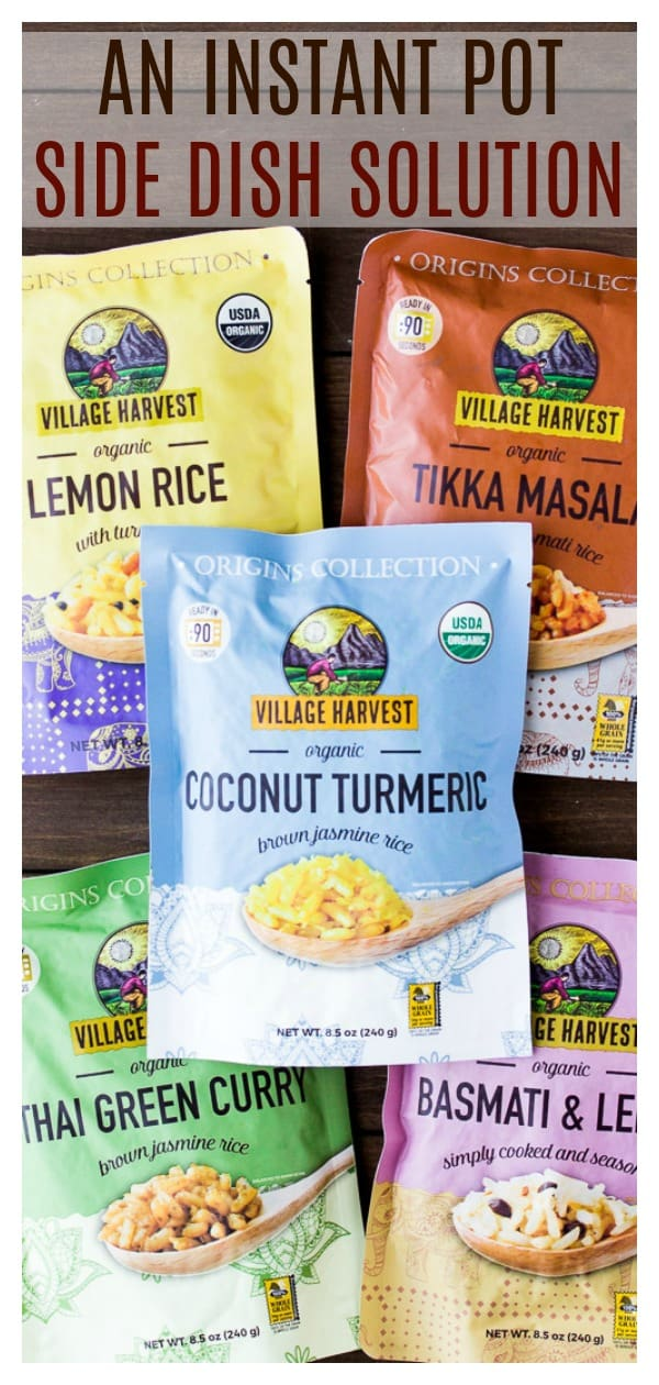 These Village Harvest Origin Collections rice dishes are a great side dish to Instant Pot Meals! They can be made in just 90 seconds in the microwave and come in 5 amazing flavors!   @VIllageHarvest #ad #VHOrigins #instantpotsidedish #sidedish #rice   https://www.pinterest.com/villageharvest/