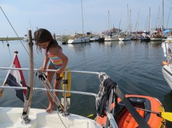 One of the joys of staying on a boat is that you could jump to the water to swim after breakfast,