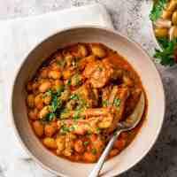 Libyan Borlotti Bean Soup