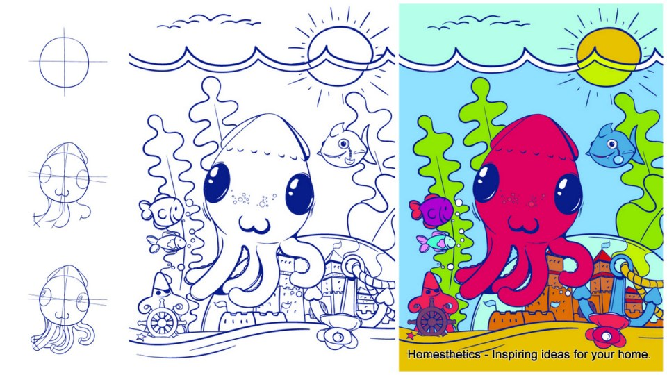 Learn-How-to-Draw-an-Octopus