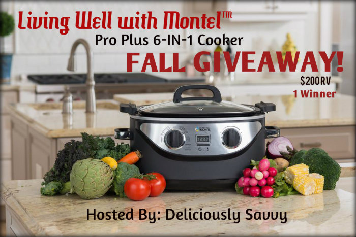 Living Well with Montel™ Pro Plus 6-IN-1 Cooker Fall Giveaway 10/26