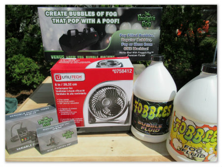 Fobbles Portable Fog and Bubble Machine and Accessories image