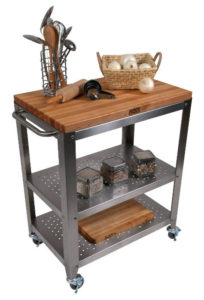 John Boos Co. Cherry Culinarte' Kitchen Cart image