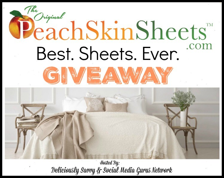 PeachSkinSheets.com Best. Sheets. Ever. Giveaway