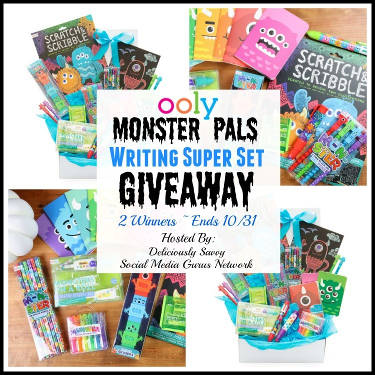 OOLY Monster Pals Writing Super Set Giveaway