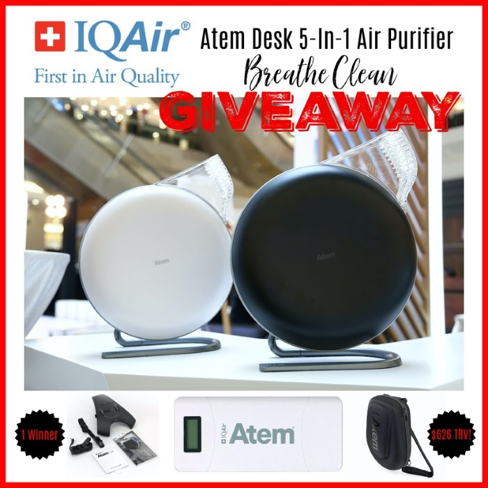 Air Purifier Breathe Clean Giveaway Atem