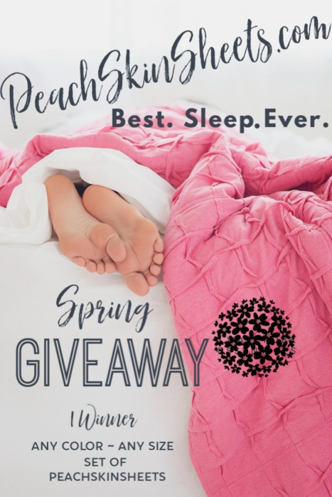 PeachSkinSheets.com Best. Sleep. Ever. Spring Giveaway