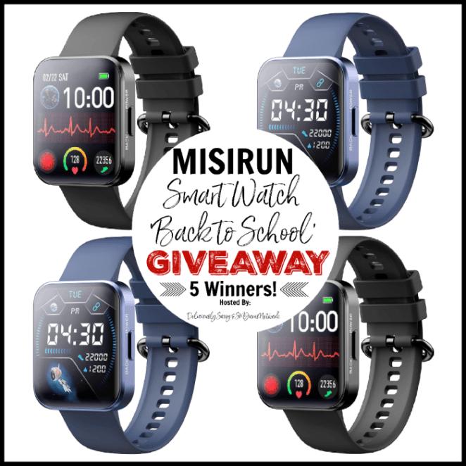 MISIRUN Smart Watch Back to School Giveaway